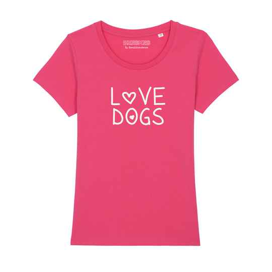 Dames T-shirt Dog 'Loves'