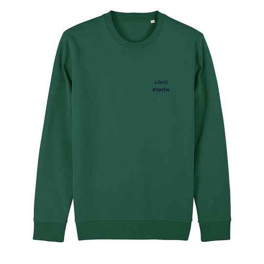 "Sweater groen ""LAMA"""