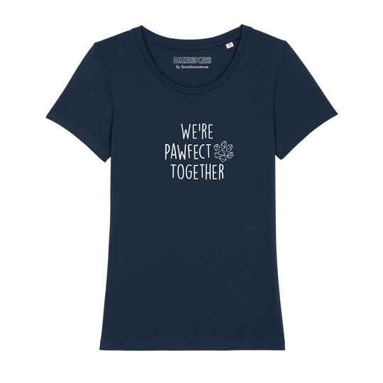 Dames T-shirt Dog 'Pawfect together'