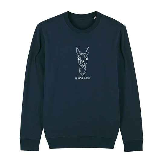 "Sweater navy ""DRAMA LAMA"""