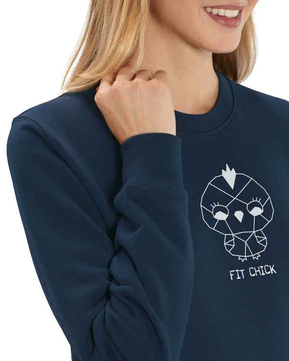 "Sweater navy ""FIT CHICK"""