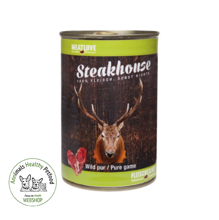 MeatLove Steakhouse Tinned Pure Game - 400g