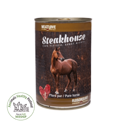MeatLove Steakhouse Tinned Pure Horse - 400g