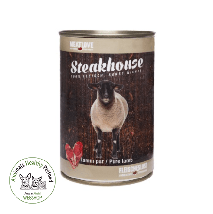 MeatLove Steakhouse Tinned Pure Lam - 400g