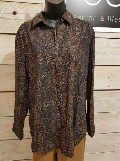 P95 Blouse floor brown print -50%
