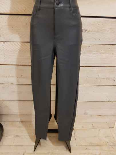 P95 Lederlook broek duska greyblue
