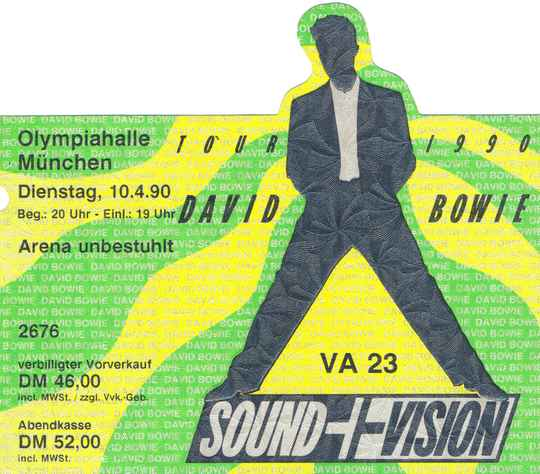 David Bowie - Olympiahalle, Munich, April 10, 1990 [Germany] - Ticket Stub