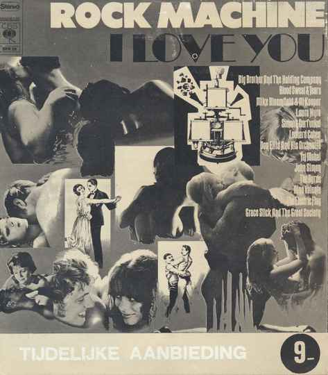 Janis Joplin - Big Brother And The Holding Company - The Byrds - Simon and Garfunkel - Grace Slick And The Great Society - Leonard Cohen - Rock Machine I Love You - 1968 [Holland] - Brochure
