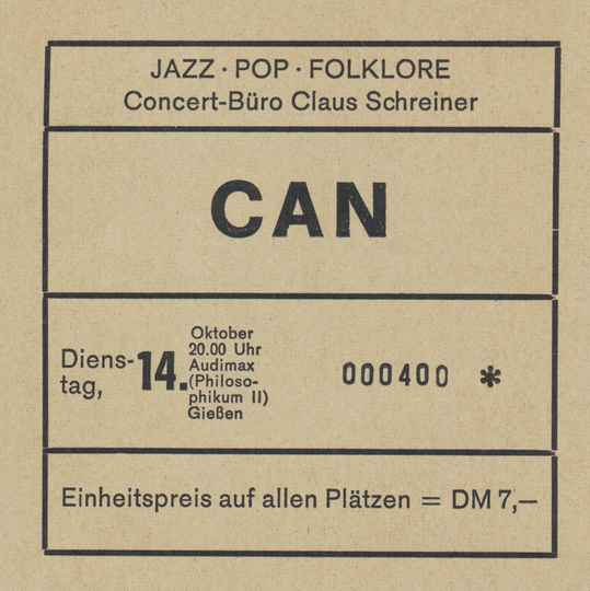 Can - Audimax, Giessen, October 14, 1975 [Germany] - Ticket Stub