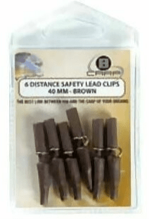 B CARP DISTANCE SAFETY LEAD CLIPS