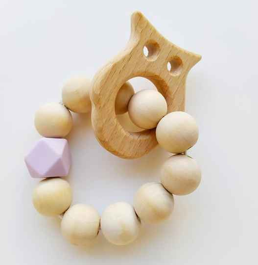 Baby teething bracelet wood