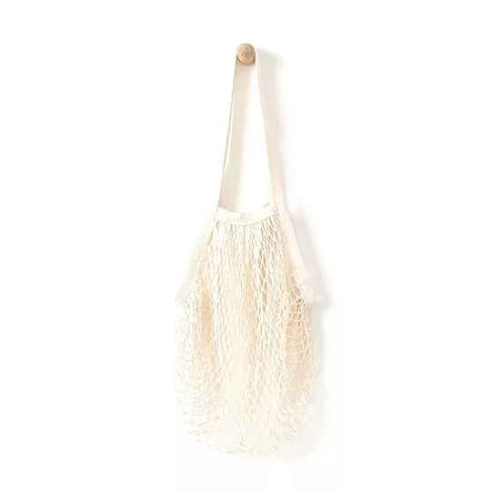 Washable mesh net shopping bag