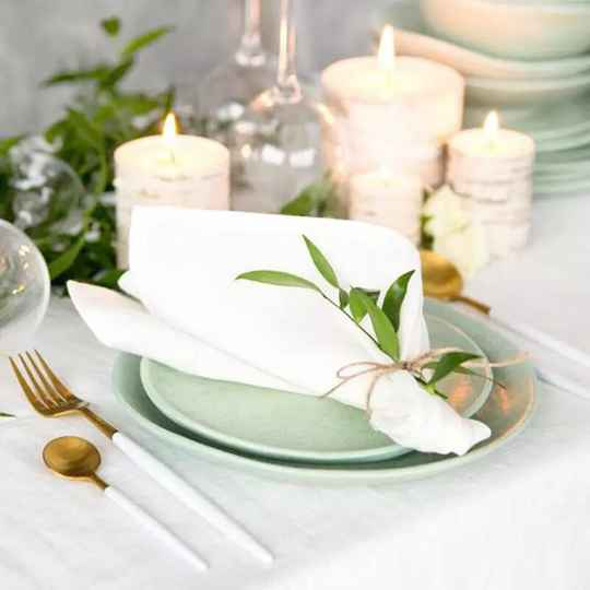 Zero waste linen table napkins