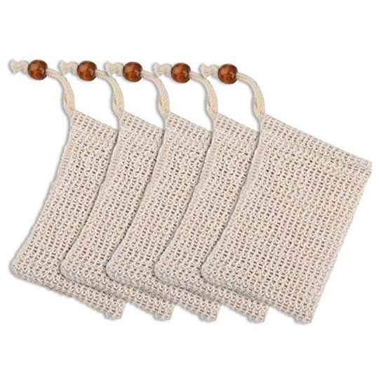 Sisal soap scrub bag