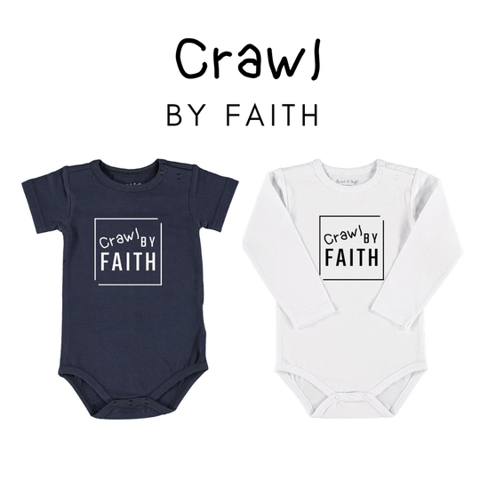 Crawl By Faith // Baby // Romper