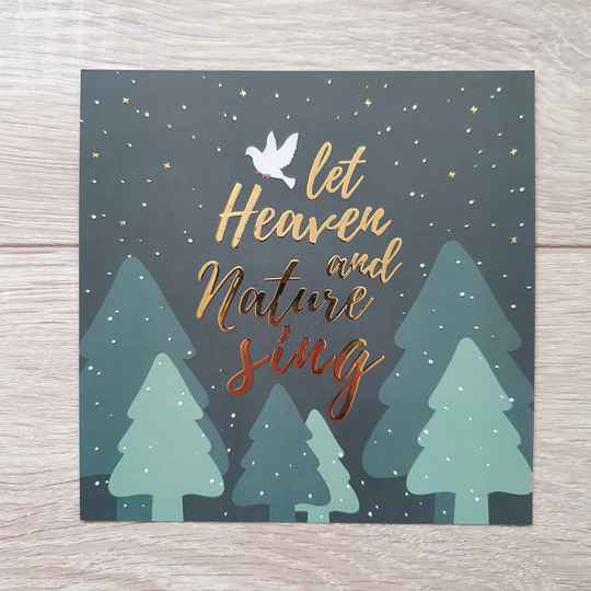 Let Heaven And Nature Sing // Christmas // 13x13cm