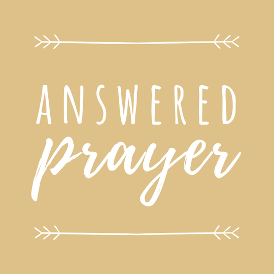 Answered Prayer // 10 x 10 cm