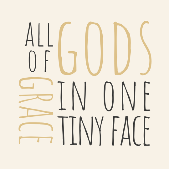 All of Gods Grace // 10 x 10 cm