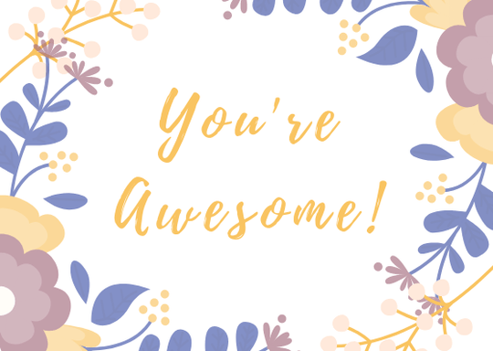 You're Awesome // Postcard // A6