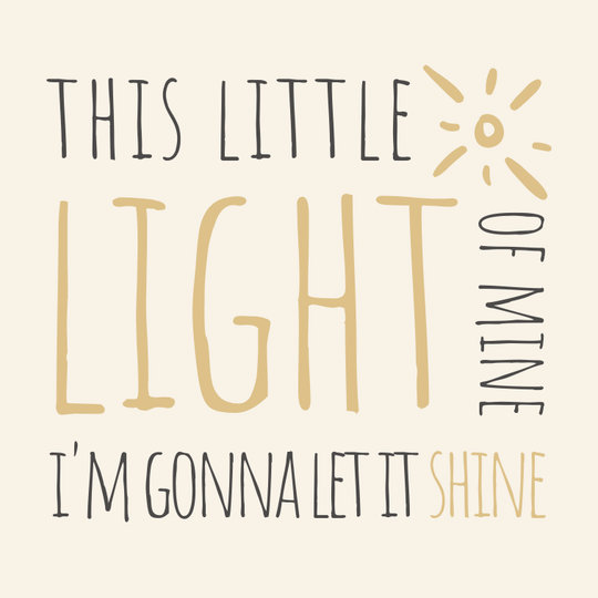 This Little Light of Mine // 10 x 10 cm