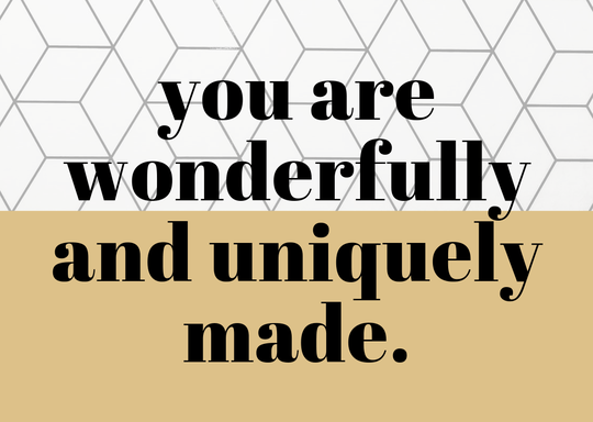 You are wonderfully and uniquely made // A6 Postcard