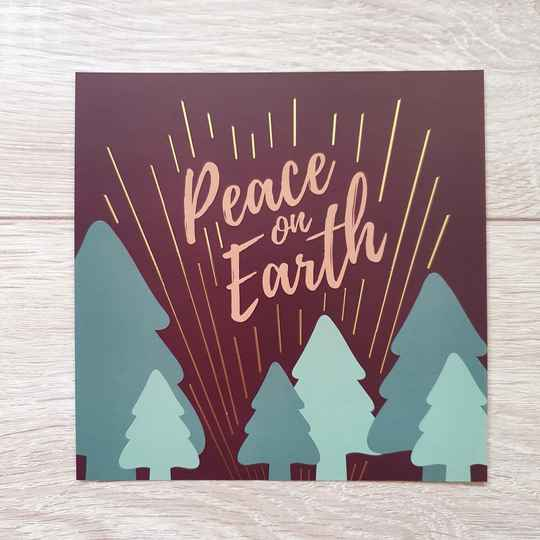 Peace On Earth // Christmas // 13x13cm
