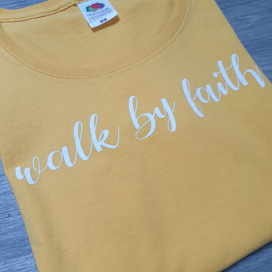 T-shirt // Walk By Faith // Sunflower Yellow