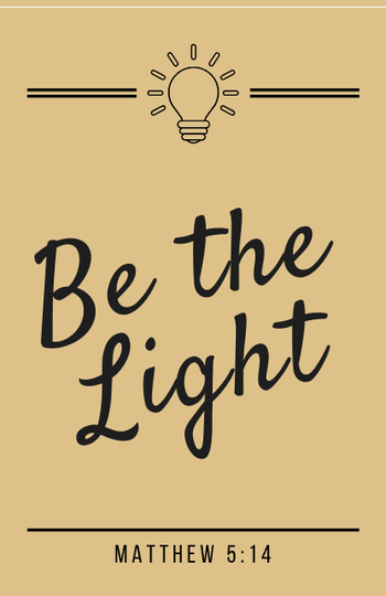 Be the Light // Geel-Yellow // Mini Kaart