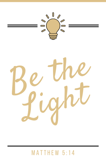 Be the Light // Wit-White // Mini Kaart