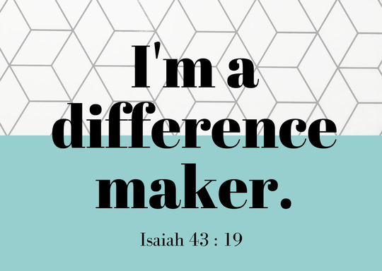 I'm a difference maker // A6 Postcard