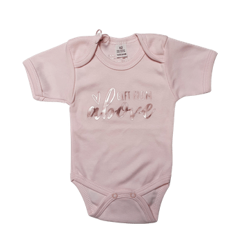 Gift From Above | Rose Gold on Pink Romper