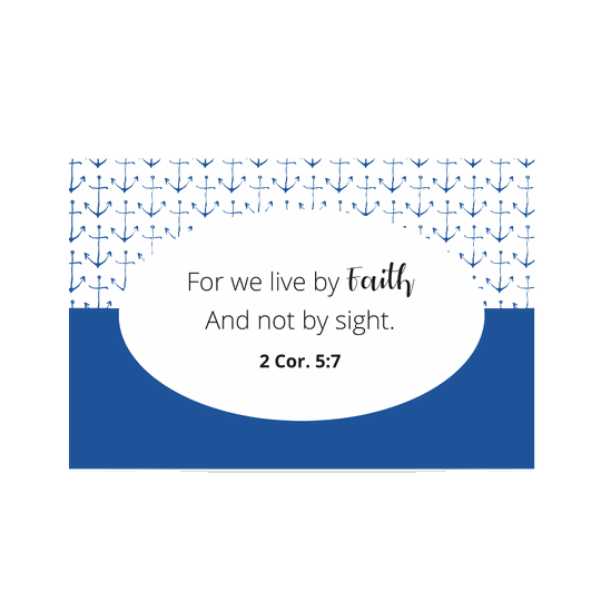 Uitdeelkaartje Blauw // Live by Faith // Shareable Blue