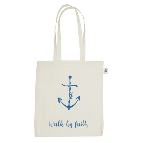 Tina // Canvas // Tas // Walk By Faith & Faith Anchor
