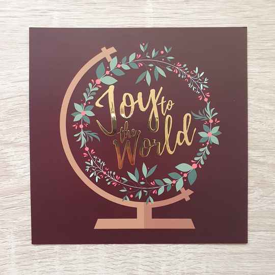 Joy To The World // Christmas // 13x13cm