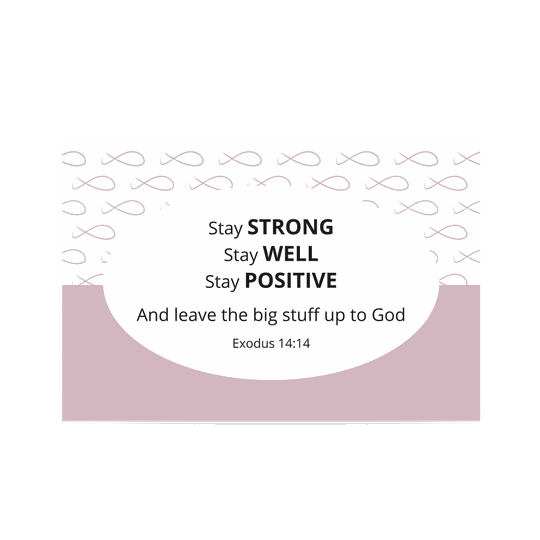 Uitdeelkaartje Roze // Stay Strong // Shareable Pink