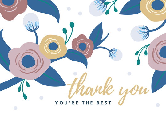 Thank you - you're the best // A6 Card