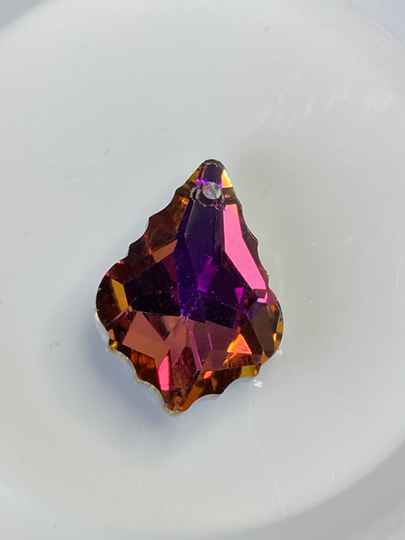 Glass Baroque Drop Astral Pink 22x15mm