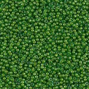 Seedbeads 15/0 Lined Green Lime 2240