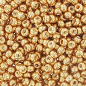 Seedbeads 8/0 Galvanized Dark Yellow Gold 1052