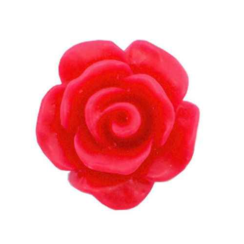 Rose Beads Red 10mm