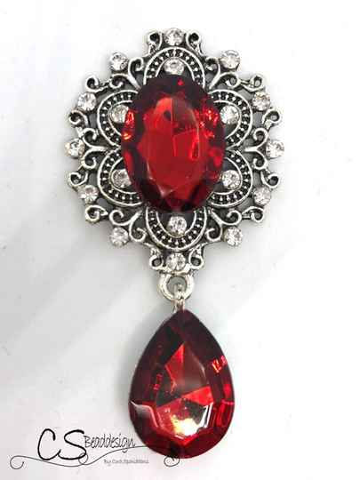 Pendant Silver / Red