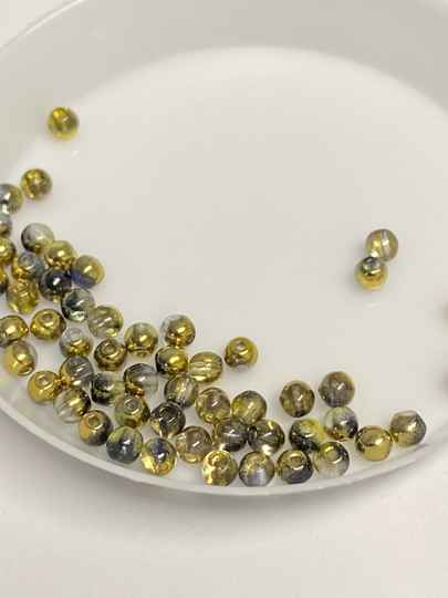 Round Beads Glass 3mm Sunny Magic Color Gray