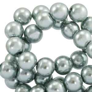 Round Beads Glass 4mm Anthracite