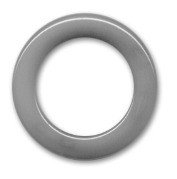 Non Drilled Resin Ring 40mm Chalk Grey
