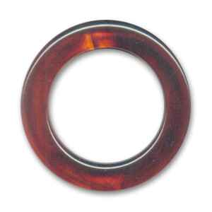 Non Drilled Resin Ring 40mm Imitation Amber