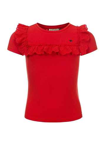 LOOXS Little Rood T-shirt  Broderie Anglaise