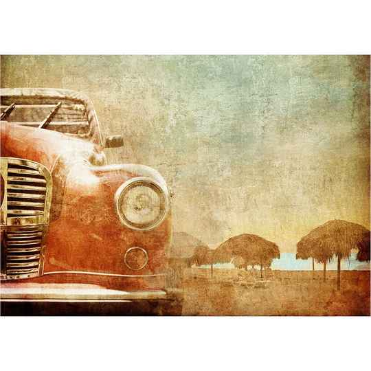 Old red car A1