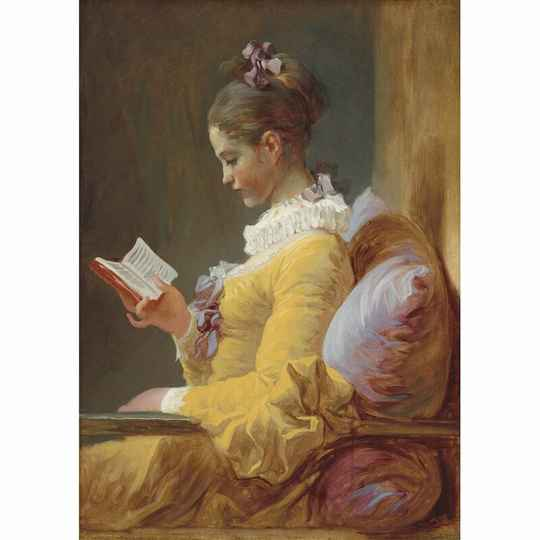 Young girl reading A3