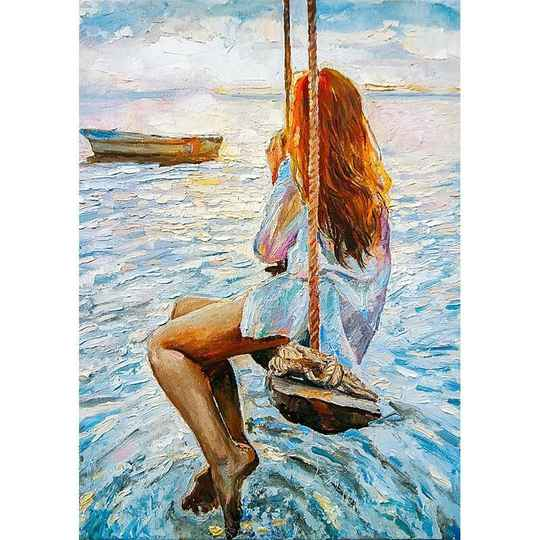 Girl on a swing A1