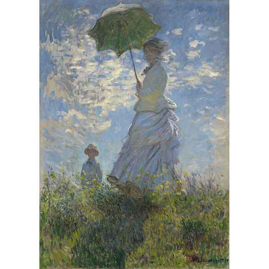 Lady with parasol A1